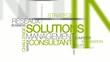Solutions management consultant réseaux nuage de mots vidéo