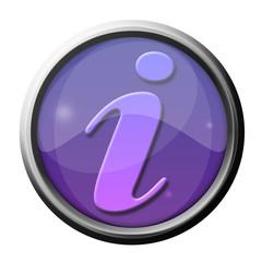 icône internet bouton informations