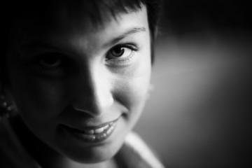 Close woman portrait