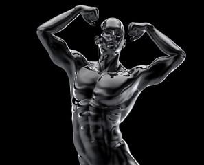 bodybuilder statue