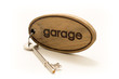 Large Wooden Garage Key Fob and Key