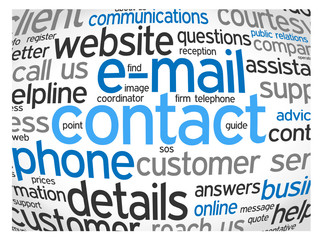 """""""CONTACT"""" Tag Cloud (call us details hotline customer service)"""