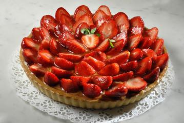 tarte aux fraises 8-10 parts 2