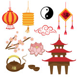 Set of icons China (vector)