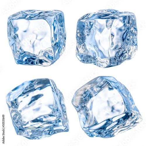 Cubes of ice on a white background. With clipping path - 50531649
