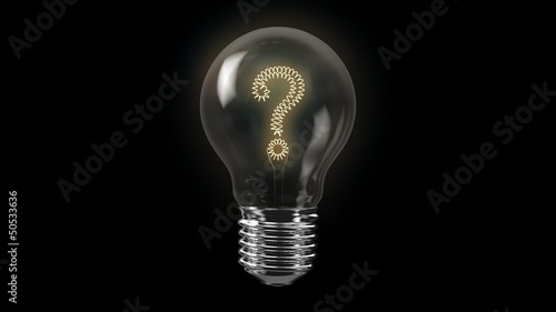 Question Mark Shape Bulb with Alpha Channel