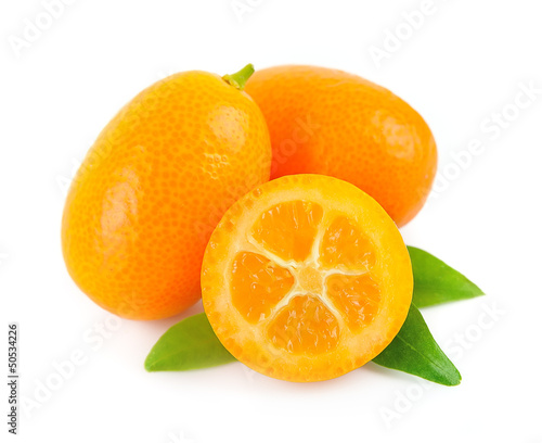 Sweet kumquat citrus fruits