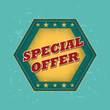 special offer - retro label