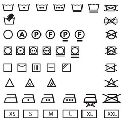 washing, laundry icon set