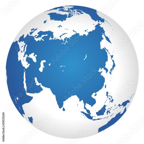 Globus Asien
