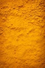 Background of yellow turmeric powder