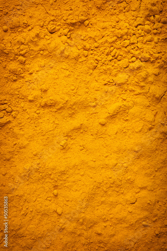 Background of yellow turmeric powder