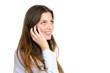 junge frau telefoniert mit ihrem handy