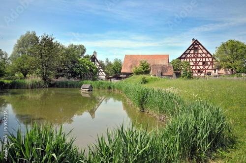 Leinwanddruck Bild Bad Windsheim, Freilandmuseum, #3459