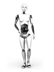 Robot woman standing nr 1.