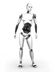 Robot woman standing nr 2.