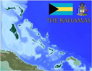 The Bahamas  America Caribbean national emblem map symbol motto