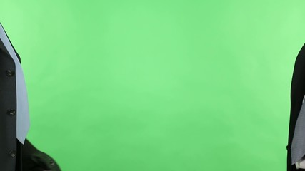 businessman meeting on green screen