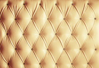 The picture of leather upholstery