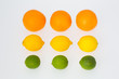 3 Oranges 3 Lemons 3 Lime Fruits