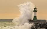 Fototapety Leuchtturm im Sturm