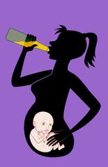 Пьющая беременная женщина