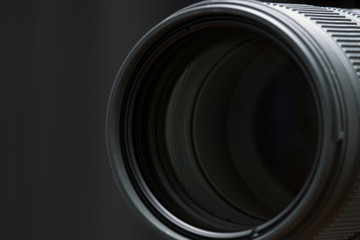 Front objective of telephoto lens