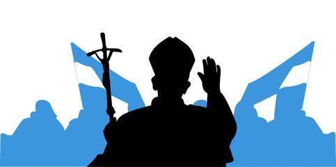 Saluto del Papa - pellegrini
