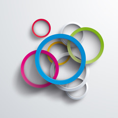 Vector 3d circles background