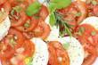 tomates et mozzarella