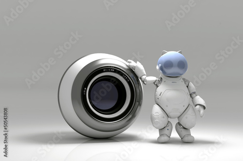 Webcam and  robot