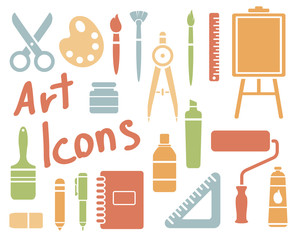 art icons set