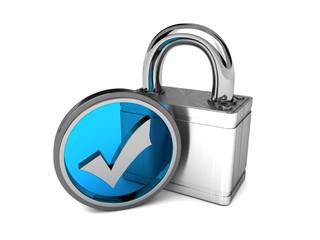 geprüfte Sicherheit blau
