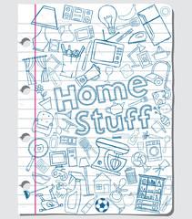 Home stuff doodles