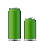 Two Green Aluminum Can