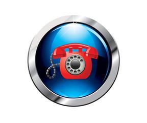Botón azul telefono