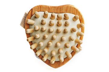 Massage brush in a heart shape