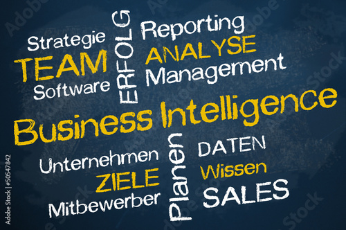 Kreidetafel mit Business Intelligence