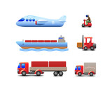 Transport Delivery Web Icon Set