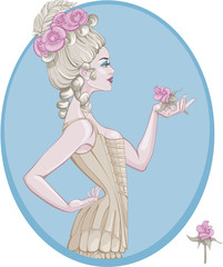 rococo style young woman