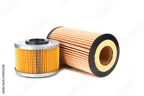 Two element oil filters isolated