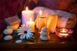 Spa candle stone oil soap