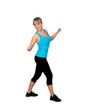 Woman in sportswear dancing