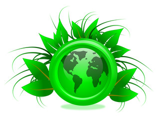 Eco Friendly Green Globe Illustration