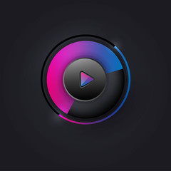 User interface knob for media player