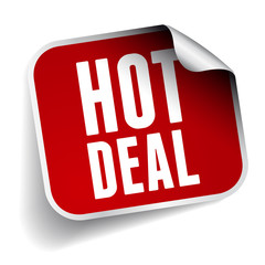 Hot deal label vector
