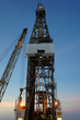 Jack Up Drilling Rig (Oil Drilling Rig) With The Crane During Tw