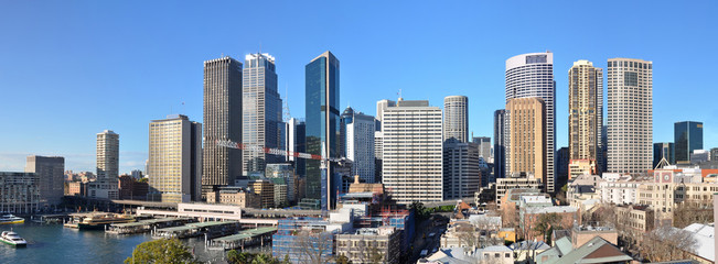 Sydney City Skyline Panorama, Australia.