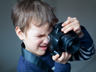 Portrait of young photographer