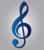 Blue Music G clef